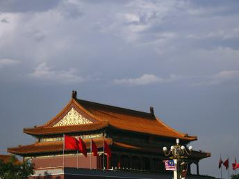 中国北京天安门城楼 路透社照片